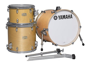 "Yamaha Stage Custom Birch 3pc Bop Drum Shell Pack - 18"" Kick, Natural Wood"