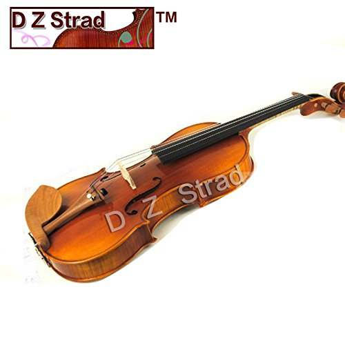 D Z Strad Viola Model N2011 Viola with, Helicore Strings, D Z Strad Bow, Shoulder Rest. Pirastro Rosin, and Case 16