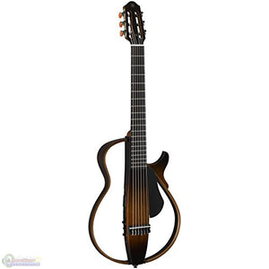 Yamaha SLG200N TBS Nylon Silent Guitar New Model w/ Gig Bag, Guitar Stand, and Headphones