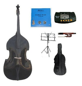 Merano B00CD5ULG8 GRACE 3/4 Size Black Upright Double Bass Bag, Bow, Bridge with 2 Sets Strings
