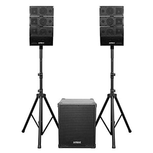 Earthquake DJ Quake 2.1 V2 Dual 4-Inch Line Arrays with 12-Inch Subwoofer 1200W Powered Portable Speaker System with Bluetooth 4.0, USB, SD, Dual Microphone Inputs