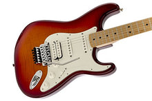 Fender Standard Stratocaster Electric Guitar - Flamed Maple Top - with Floyd Rose Locking Tremolo - Maple Fingerboard, Aged Cherry Burst