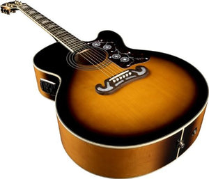 Epiphone EJ-200SCE Solid Top Cutaway Acoustic/Electric Guitar, Vintage Sunburst