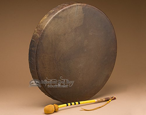 Tohlakai Buffalo Hide Antler Drum 20