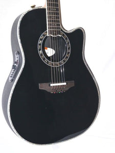 Ovation AX Series C2079AX-5 Acoustic-Electric Guitar, Black