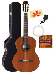 Cordoba C5 Classical Guitar Bundle with Hard Case, Tuner, Austin Bazaar Instructional DVD, and Polishing Cloth