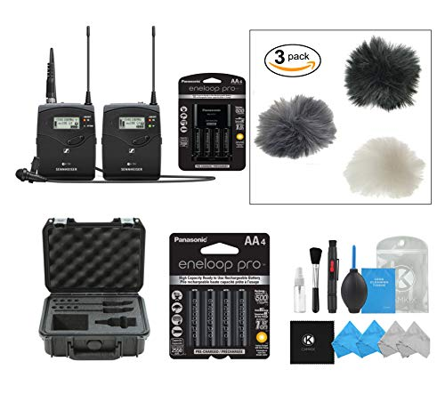 Sennheiser ew 112P G4 with SKB Case, Battery Charger and Batteries and Set of 3 Wind Muffs