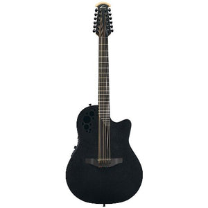 Ovation Elite T 2058TX 12-string Acoustic-electric Guitar, Black