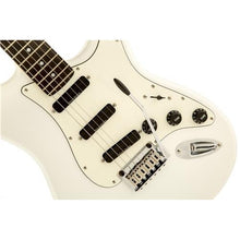 Squier by Fender Deluxe Hot Rails Stratocaster Electric Guitar - Olympic White - Rosewood Fingerboard