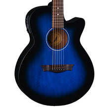 Dean AXcess Performer Acoustic/Electric Guitar, Mah, Blueburst, AX PE BB HSBKPACK Case Bundle
