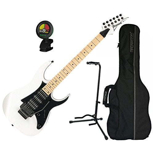 Ibanez RG Series RG450MB White Electric Guitar w/ Gig Bag, Stand, and Tuner