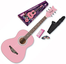 Daisy Rock Debutante Junior Miss Acoustic Bubble Gum Pink Guitar Starter Pack