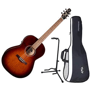 Seagull 041886 Entourage Folk Burnt Umber QIT Acoustic Electric Guitar w/ Gig Bag and Stand