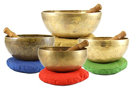 432HZ FOUR CHAKRA TIBETAN SINGING BOWL SET
