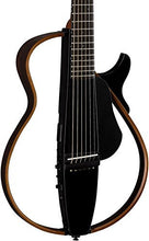 Yamaha SLG200S TBL Steel String Silent Guitar 2015 New Model (Trans Black) w/ Gig Bag, Stand, and Headphones