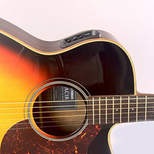 Yamaha AC1RVS Acoustic-Electric Guitar in Vintage Sunburst with Case and Legacy Steel String Kit