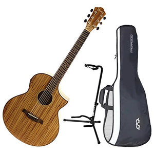 Ibanez Exotic Wood Aew40zw Nt Acoustic Electric Guitar W Gig