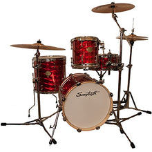 "Sawtooth ST-COM-4PC-16-RMM-ZBT Command Series 4-Piece Set with 16"" Bass Drum, ChromaCast Hardware & Zildjian ZBT Cymbals, Red Mirror Metallic"