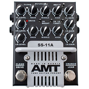 AMT Electronics SS-11 3-Channel Dual Tube Guitar Preamp Classic Mod