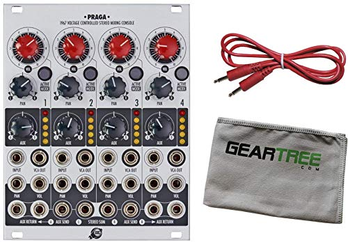 XAOC Praga Voltage Controlled Stereo Mixing Console Eurorack Module w/Cable and Cloth