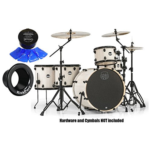 Mapex MA528SFBAW Mars Bonewood 5-Pc Crossover Shell Pack w/ Moongel and Kickport