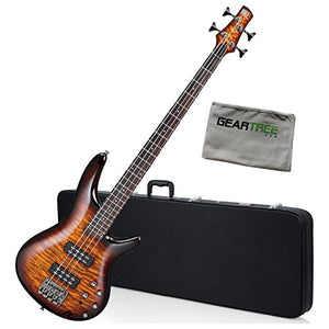 Ibanez SR400EQMDEB SR Standard Bass Guitar Dragon Eye Burst w/Hard Case and Gea