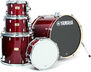"Yamaha Stage Custom Birch 5pc Drum Shell Pack - 22"" Kick, Cranberry Red"