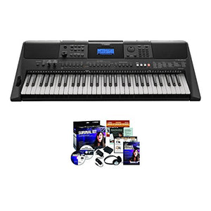 Yamaha PSRE453 KIT | 61 Key Touch Response Keyboard with Survival Kit D2