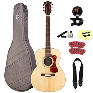 Guild OM-240E Orchestra Acoustic-Electric Natural With Gig Bag and Accessory Kit