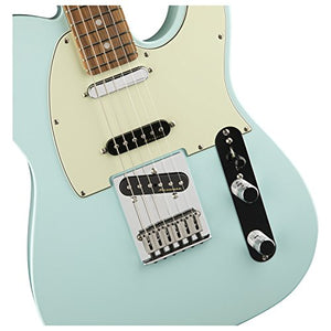Fender Deluxe Nashville Telecaster Electric Guitar Daphne Blue Pau Ferro Fingerb