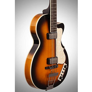 Hofner CT Club Bass - Sunburst Finish Electric Bass Guitar with Case