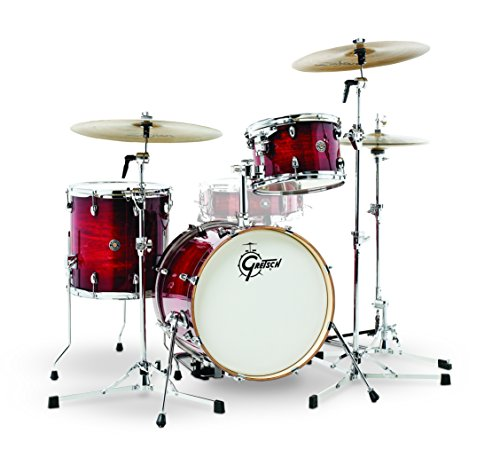 Gretsch Drums CT1-J483-GCB Catalina Club 3 Piece Drum Shell Pack, Gloss Crimson Burst