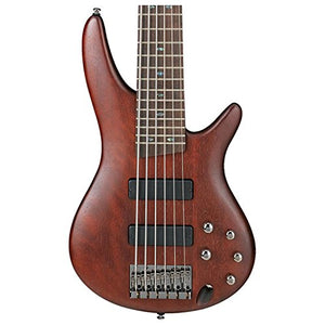 Ibanez SR506BM 6-String Electric Bass, Brown Mahogany