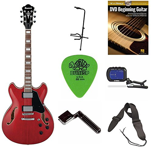 Ibanez AS73 AS Artcore Semi-Hollow Body Electric Guitar + DVD, Pics, Strap, String Winder, Tuner & Stand