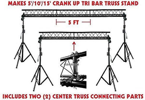 CedarsLink Crank UP lighting Stand Triangle Truss 15' span 10' High MOBILE DJ