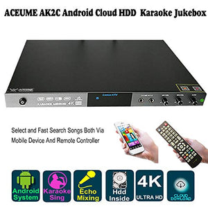 6TB HDD 109K Vietnmaese, English Songs,Android Karaoke Machine, Vietnamese Songs Player Cloud Download,Mobile Device Select Songs, Microphone Port, Sound Mixing,AK2C70