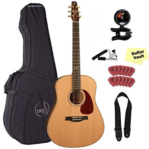 Seagull Artist Mosaic Acoustic Guitar Bundle with Deluxe Tric Case