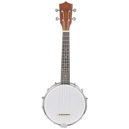 Guitar 1PCS 23 Inch Banjo Sapele Mahogany Wood 4 Strings Banjolele Concert Size Matte Ukulele Nylon Strings for Learner Beginners (Color : As Shown, Size : 23inch)
