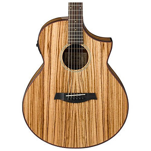 Ibanez Exotic Wood AEW40ZW-NT Acoustic-Electric Guitar w/Gig Bag and Stand