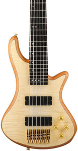 Schecter Guitar Research Stiletto Custom 6 6-String Bass Guitar Satin Natural