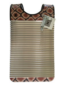 "Zydeco Washboard""Snake"" Key of Z Rubboards Free Scratchers Frottoir Scrubboard Percussion Instrument Hand Made Louisiana Made By Tee Don Authentic Original (Not Real Snake Skin)"