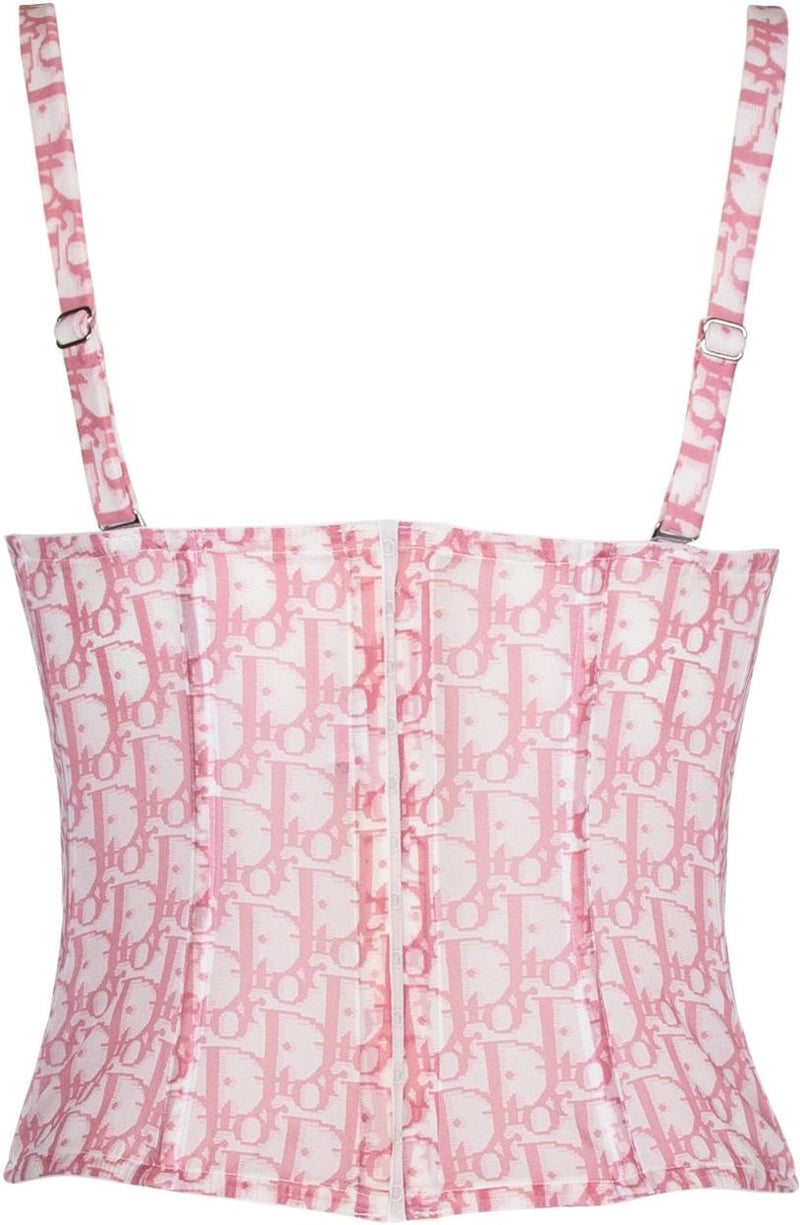Christian Dior Diorissimo Girly Bustier Top