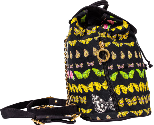 Gianni Versace Butterfly Printed Backpack
