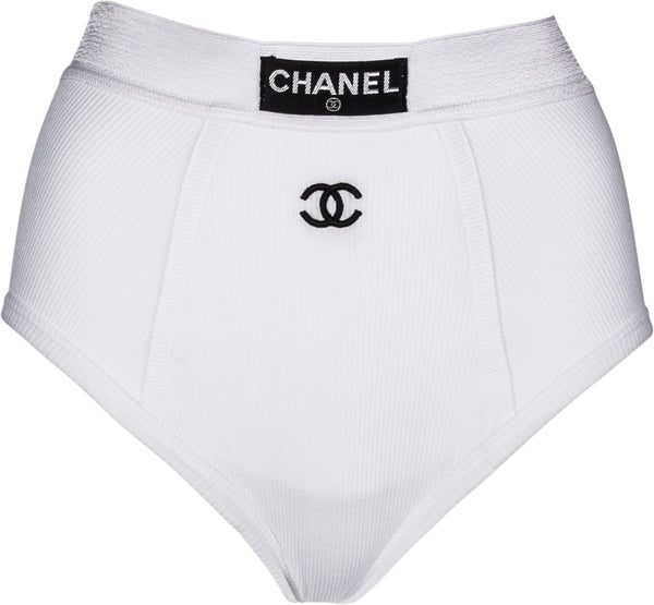 Chanel Iconic Logo Spring 1993 Runway Briefs