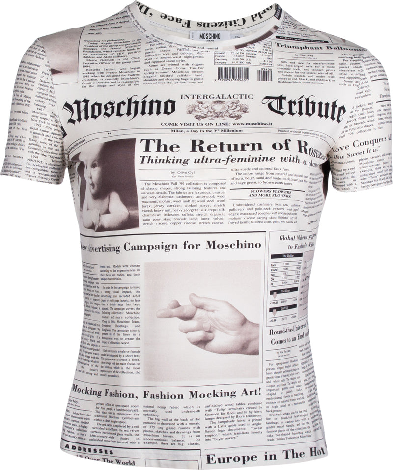 Moschino Newspaper Printed Top
