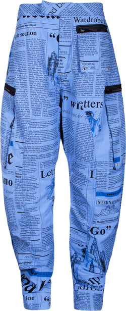 John Galliano Gazette Newspaper Track Pants