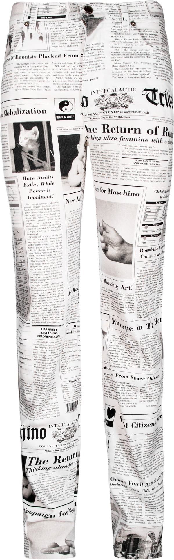 Moschino Newspaper Printed Jeans