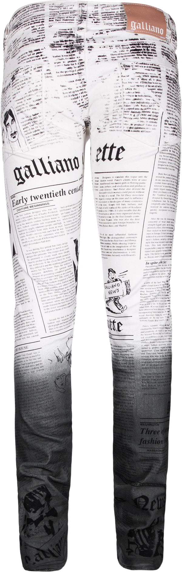 John Galliano Gazette Ombre Newspaper Jeans