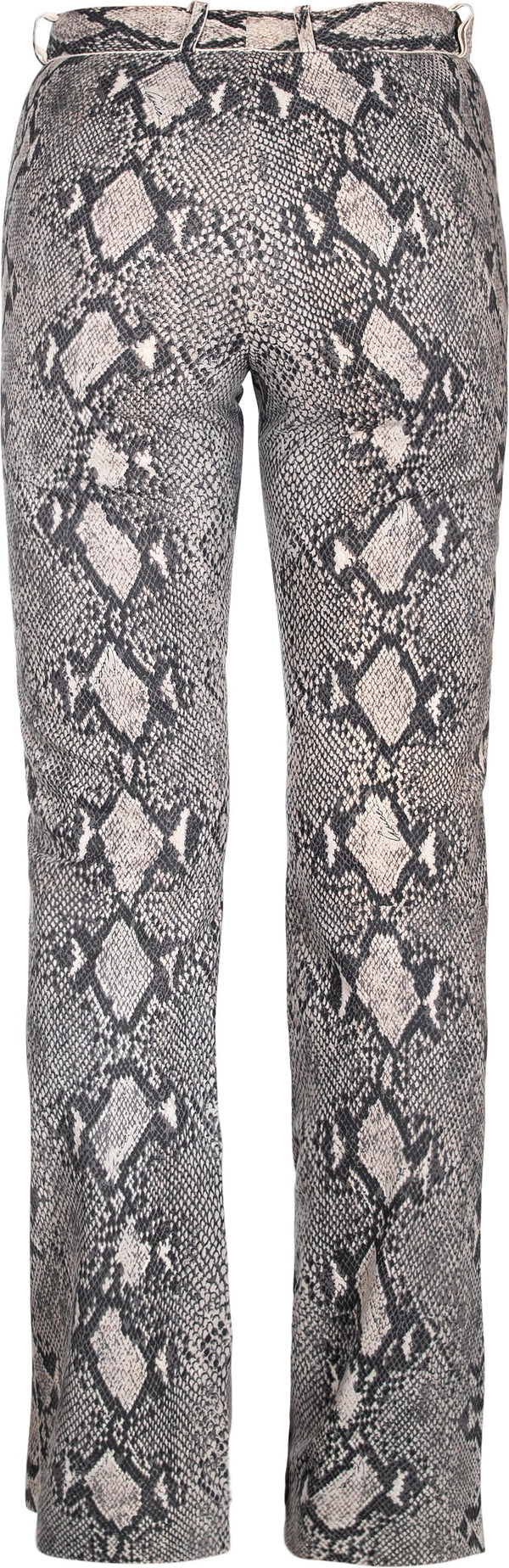 Gucci Spring 2000 Runway Python Printed Leather Pants