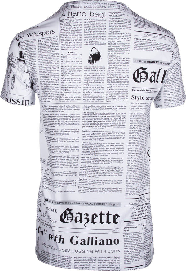 John Galliano Gazette Newspaper Tee Shirt